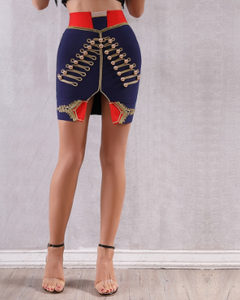 Blue Bandage Pencil Skirt