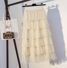 Load image into Gallery viewer, Mesh layered skirt