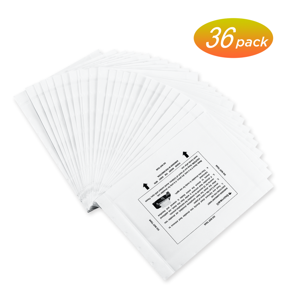 Bonsaii Paper Shredder Sharpening&Lubricant Sheets, 36-Pack - bonsaii