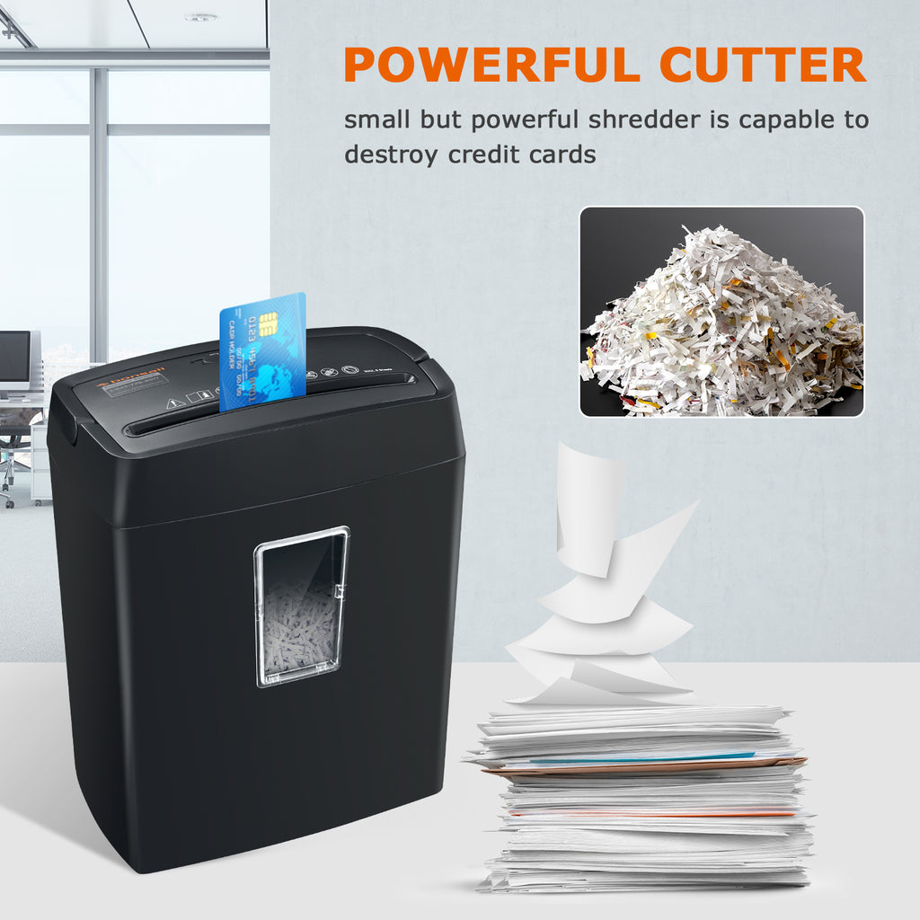 Bonsaii C204-C 6-Sheet Cross-Cut Shredder