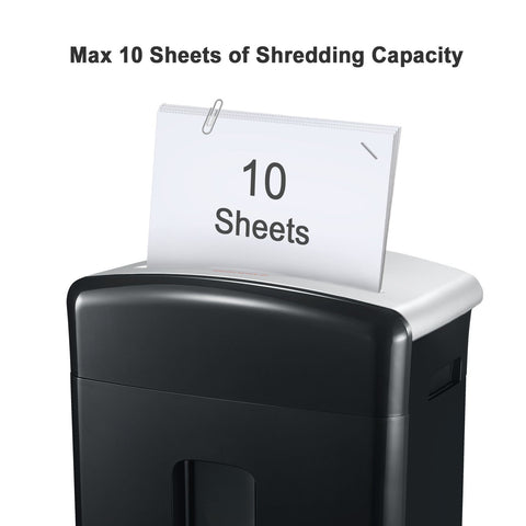 Bonsaii C220-B 10-Sheet Micro-Cut High-Security Paper Shredder