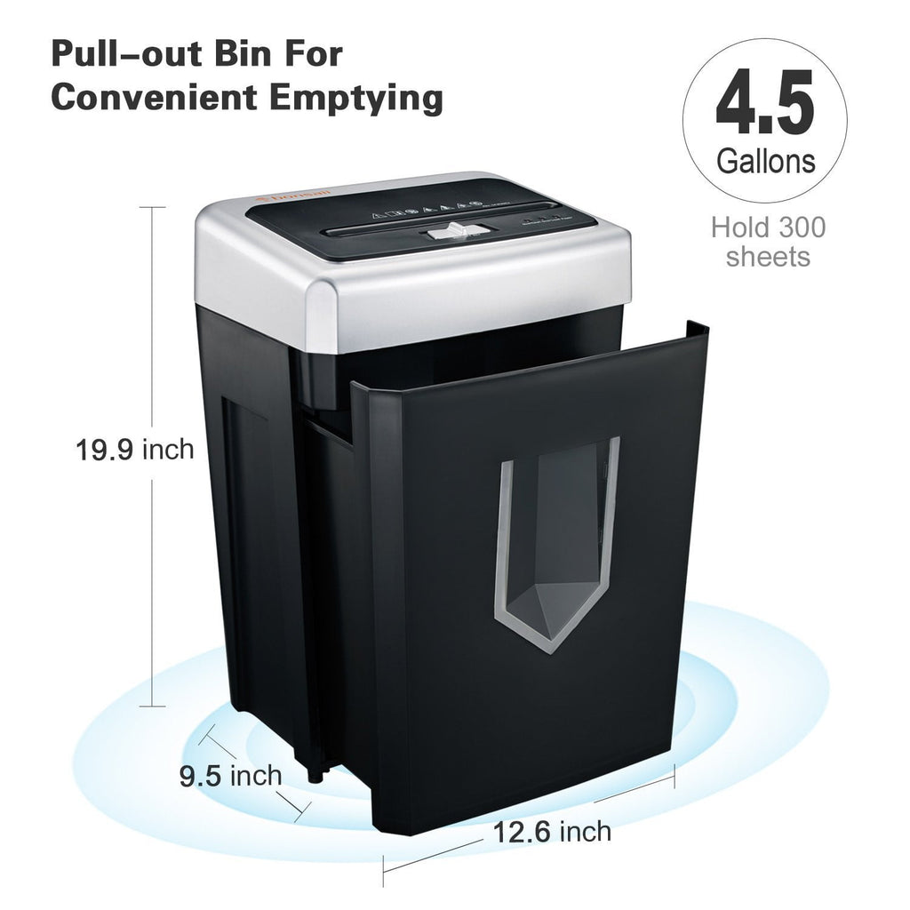 Bonsaii C169-B 14-Sheet Cross-Cut 30-Minute Shredder