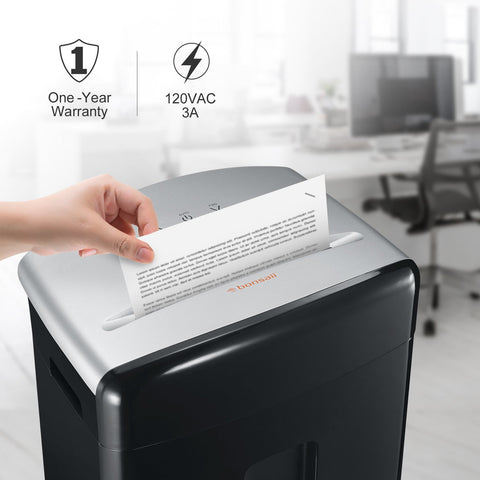 Bonsaii C221-B 12-Sheet Micro-Cut Shredder