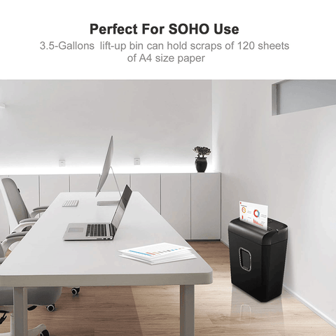 Bonsaii C234-A 6-Sheet Micro-Cut Shredder