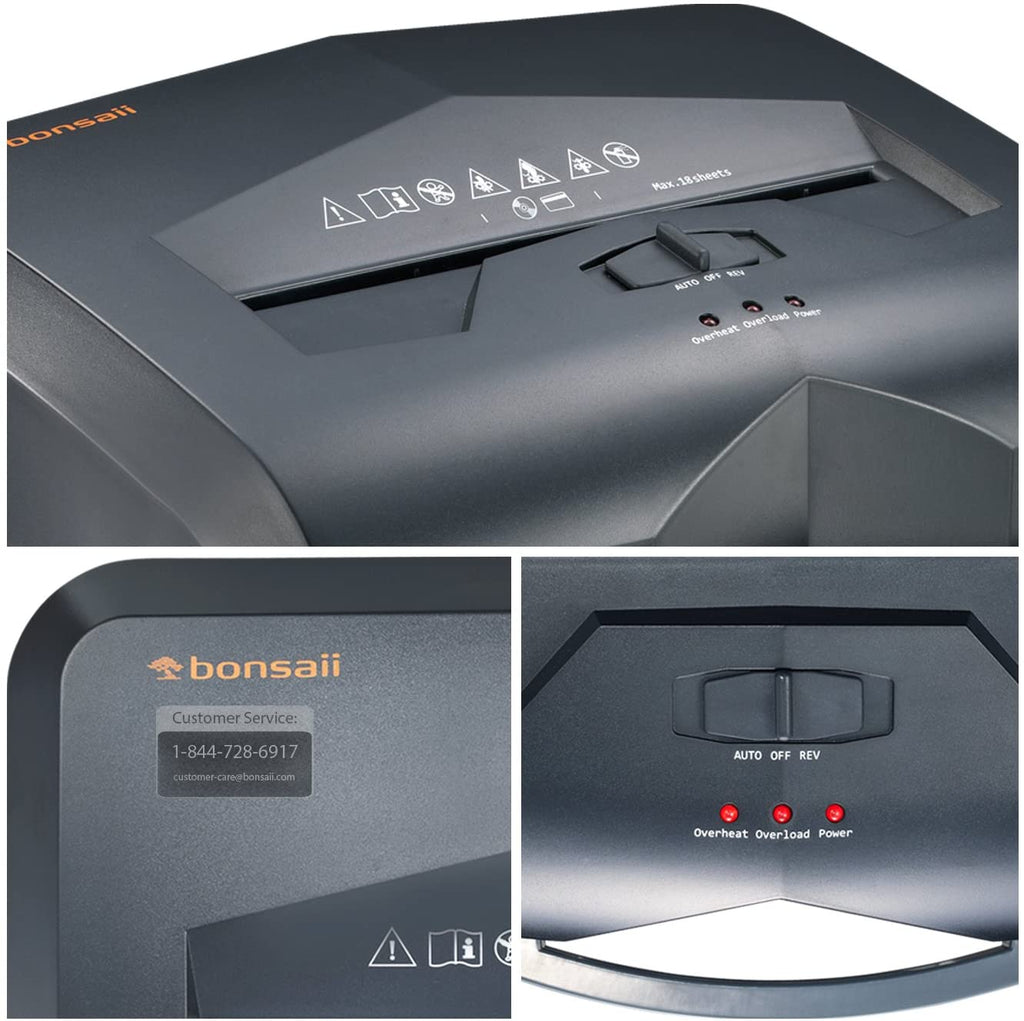 Bonsaii C149-C 18-Sheet Cross-Cut 60 Minutes Shredder (Versatile)