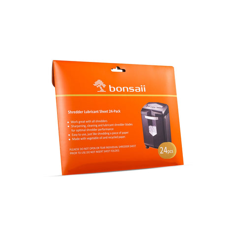Bonsaii Paper Shredder Sharpening&Lubricant Sheets, 36-Pack