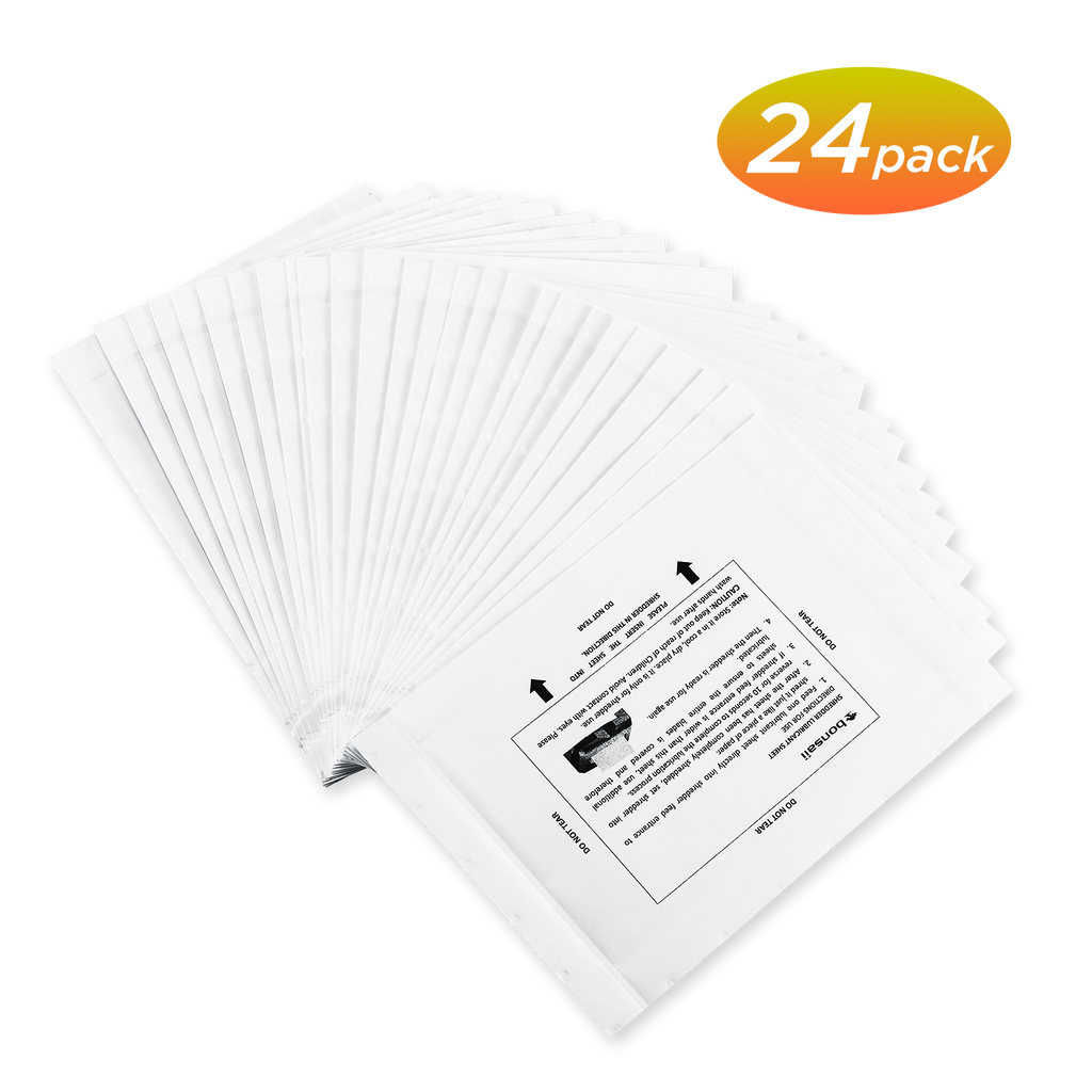 Bonsaii Paper Shredder Sharpening&Lubricant Sheets, 24-Pack - bonsaii