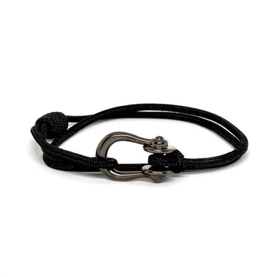 Kalymnos / Black Solid / Chrome Black - Kalymnos - Inspired by Rock-climbing - Matching Couple Bracelets - Topologie Hong Kong
