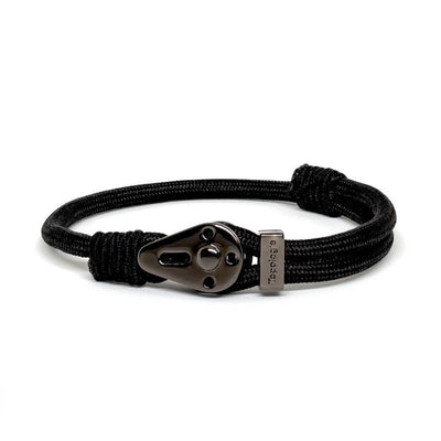 Yosemite / Black Solid / Chrome Black - Yosemite - Inspired by Rock-climbing - Matching Couple Bracelets - Topologie Hong Kong