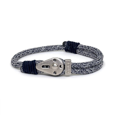 Yosemite / Navy Melange / Silver - Yosemite - Inspired by Rock-climbing - Matching Couple Bracelets - Topologie Hong Kong