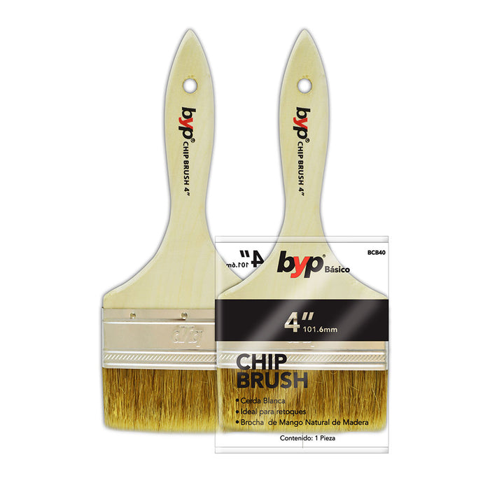 "Brocha de cerda natural blanca ""Chip brush 1500"" - byp"
