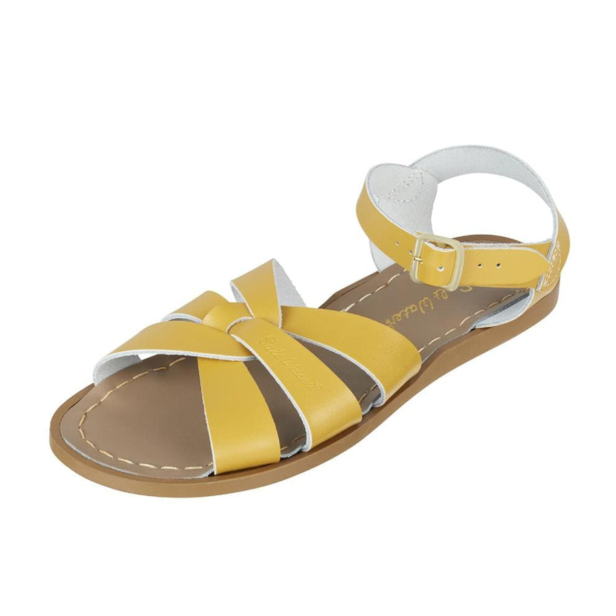 salt water sandals original mustard, senapsgula sandaler