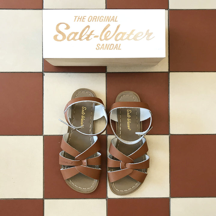 Salt-Water sandal original ljusbrun, tan läder