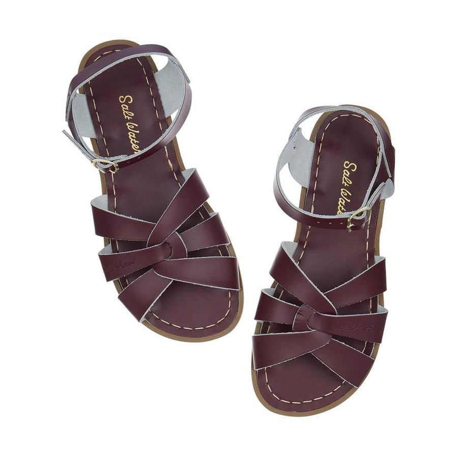 Salt-Water Sandals Original Claret vinröd sandal