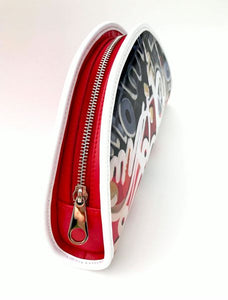"""Writing on the Wall"" Small Clutch - Red"