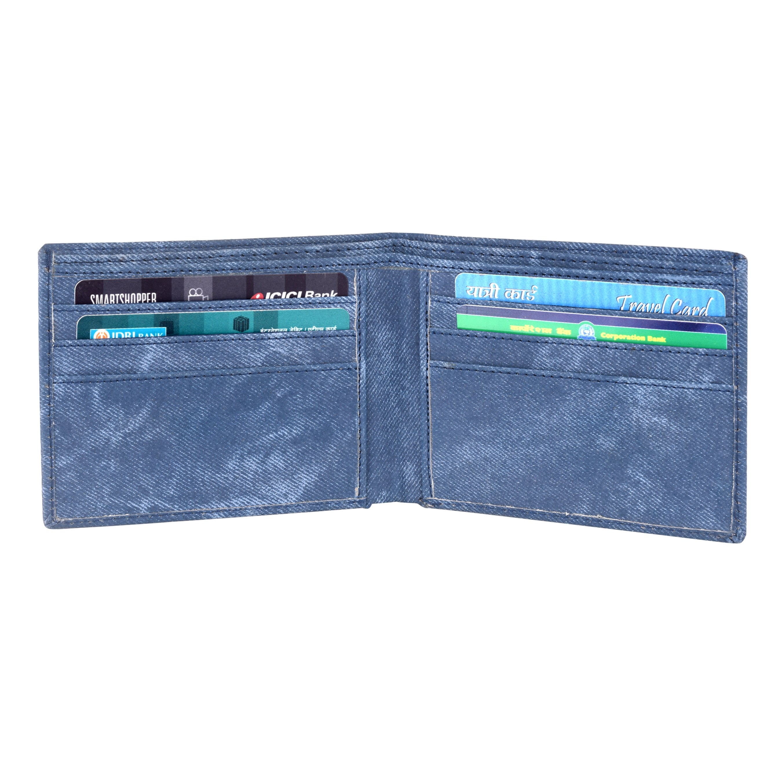 Lorenz CM-2014WL-05 Combo of Men's Black Dial Analogue Watch and Blue Denim Wallet - Lorenz Fashion