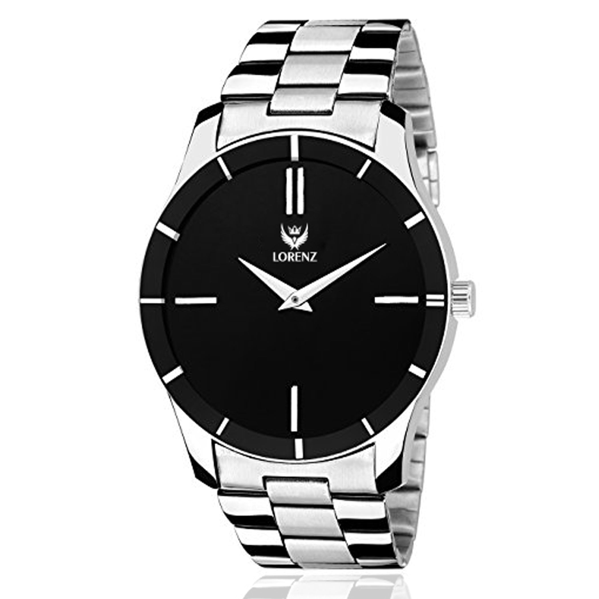 Lorenz Stainless Steel Black Dial Men's Watch- MK-1076A