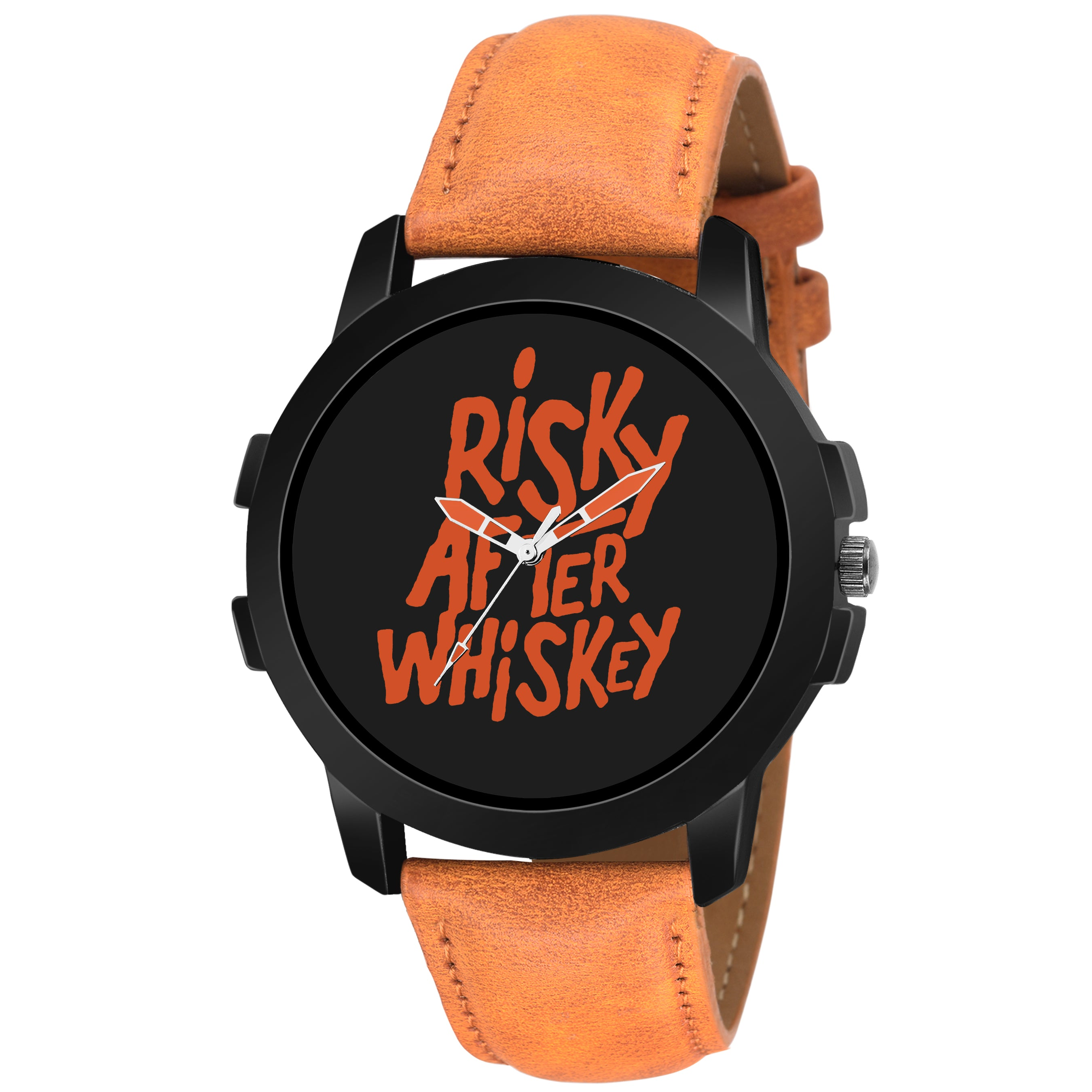 Lorenz MK-2019W Black Dial 'Risky After WISKY' Watch for Men