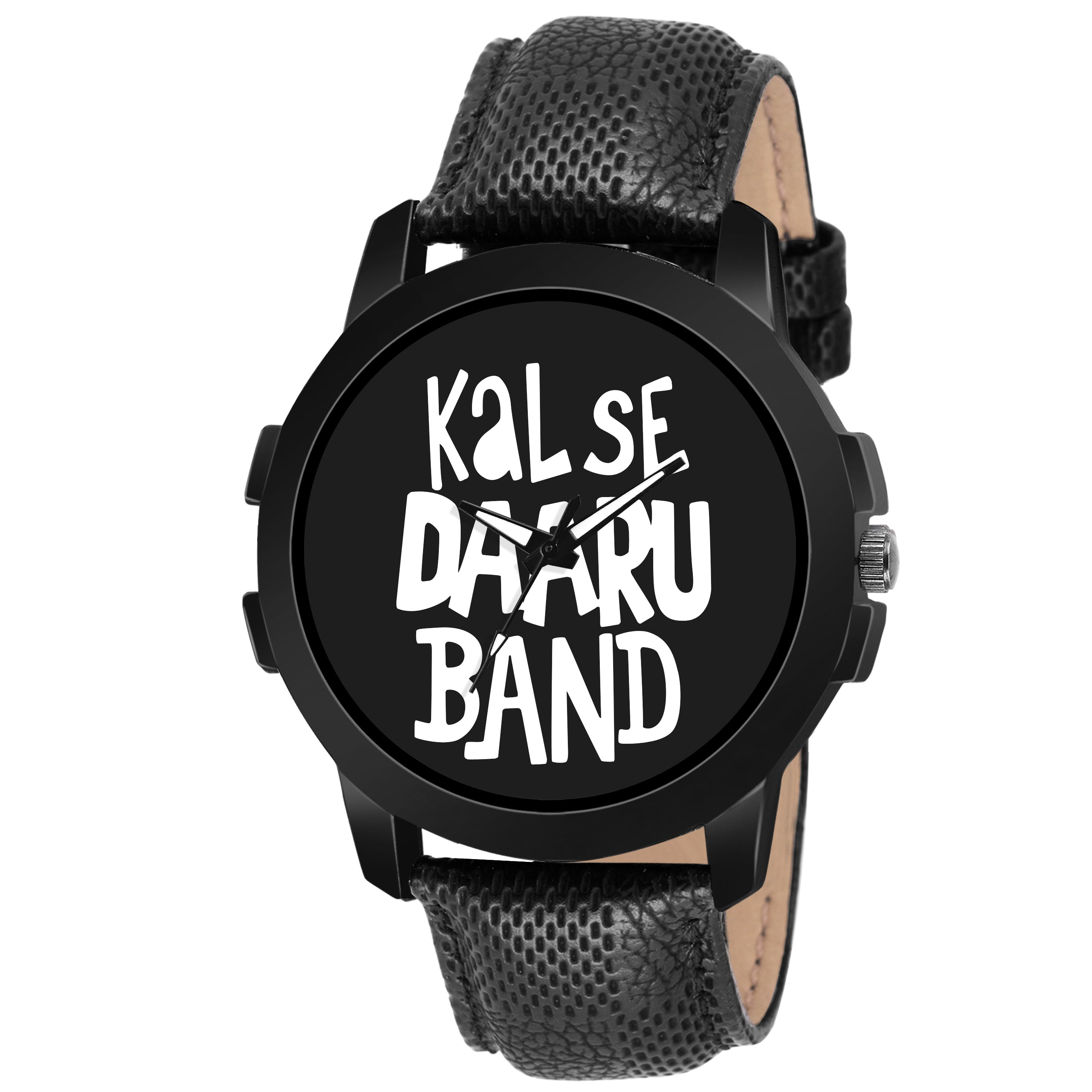 Lorenz MK-2026W Black 'KAL SE DAARU Band' Watch for Men