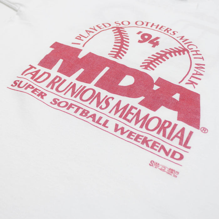 Vintage Single Stitch Softball MDA Event T-shirt