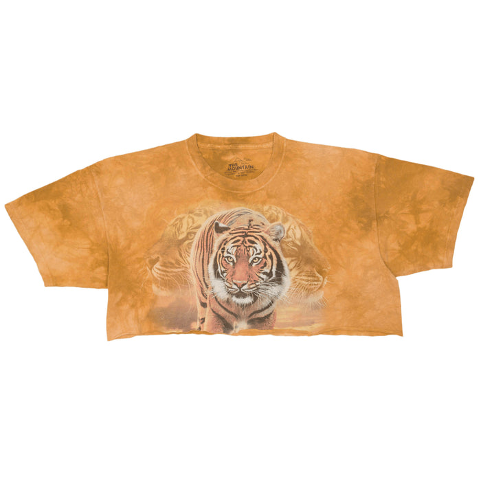 Vintage Animal Print Cropped T-shirt