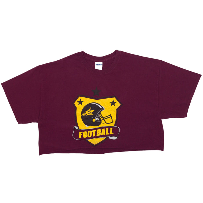 Vintage Football Cropped T-shirt