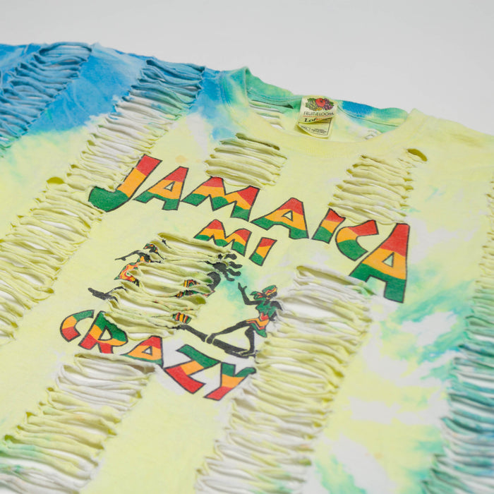 Vintage Jamaica Cut Out Tie-Dye T-shirt