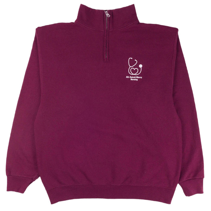 AQ-Detroit Mercy Nursing 1/4 Zip Sweatshirt