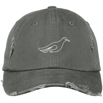 Trippy Gulls Distressed Dad Hat