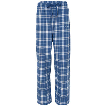 Dirty Bury Blue Embroidered Flannel Pants