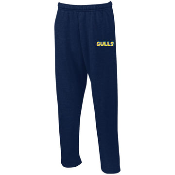 90's Gulls Embroidered Sweatpants with Pockets