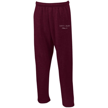Maroon Dirty Bury Sweatpants with Pockets
