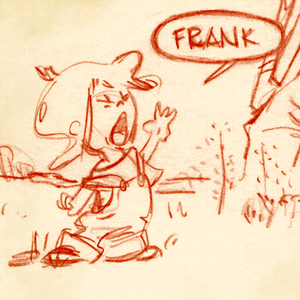 Kid screaming Frank - Finding Frank and His Friend sketch at Curio & Co.