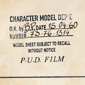 Character Model Department stamp Pud Film - Curio & Co.