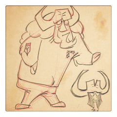 Original production drawings for Brigadier Buffalo from Philip La Carta