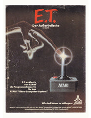 Curio & Co. looks at German poster for the E.T. videogame by Atari. Curio and Co. www.curioandco.com