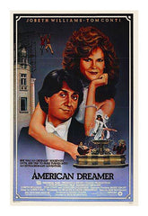 Curio & Co. watches classic 80's film American Dreamer. Movie Poster. Curio and Co. www.curioandco.com