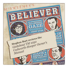 Gadabout Time Machien User's Manual in the Believer Magazine published by McSweeney's. Cover of Believer Magazine with quote on Gadabout review. Curio and Co. www.curioandco.com