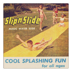 Curio & Co. salutes the vintage summertime Slip 'n Slide. Slip 'n Slide vintage advertisement. Curio and Co. www.curioandco.com