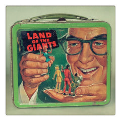 Curio & Co. looks at classic vintage lunchboxes to go back to school. Photo of retro lunch box from Land of the Giants. Curio and Co. www.curioandco.com