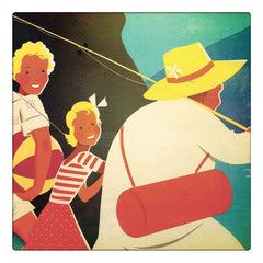 Curio & Co. looks at vintage travel posters. Closeup photo of vintage austrian travel ad. Curio and Co. www.curioandco.com