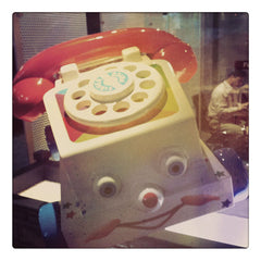 Curio & co. looks at classic Fisher-Price toy Chatter Telephone. Curio and co. www.curioandco.com