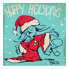 Curio & Co. sends holiday wishes thanks to a vintage Christmas card by Frank and His Friend artist and creator Clarence 'Otis' Dooley. Curio and Co. www.curioandco.com