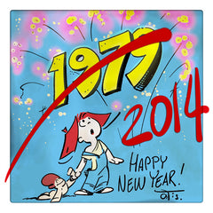 Curio & Co. counts down to the new year with vintage newspaper comic Frank and His Friend. Curio and Co. www.curioandco.com