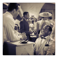 Curio & Co. looks at how popular film quotes and catchphrases enter the pop culture subconscious. Film still of classic black and white film Casablanca with Humphrey Bogart and Ingrid Bergman, one of our favorite films at Curio and Co. www.curioandco.com.