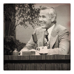 Curio & Co. looks at classic late night talk shows and their desks. Image of Johnny Carson from the Tonight Show, from Curio and Co. www.curioandco.com