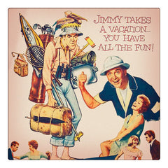 Curio & Co. beats the heat with a look at classic films perfect for summer vacation. Image of the film poster for classic 1960s Mr. Hobbs Takes a Vacation with Jimmy Stewart from Curio and Co. www.curioandco.com
