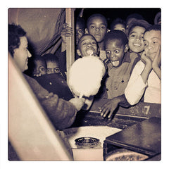 Curio & Co. looks at nostalgia for summertime treats from childhood with cotton candy. Image of children very excited to be served cotton candy. Source, Heinz Family Fund/Carnegie Museum of Art. www.curioandco.com