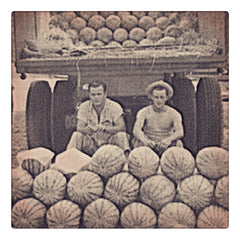 Curio & Co. looks at watermelon as a classic summertime treat. Vintage photograph of watermelon farmers. www.curioandco.com
