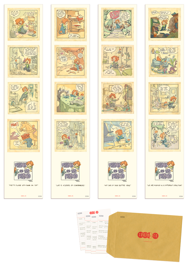 Set of 4 Poster with certificates of authenticity - Comic strip